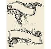 Drawn scroll banner design Ribbon Pinterest And Tattoo Scroll