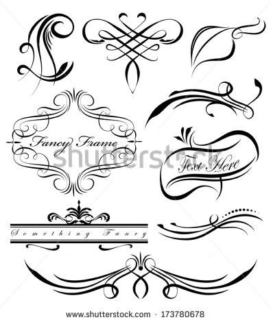 Drawn scroll paper border Scroll Fancy borders Paper Fancy