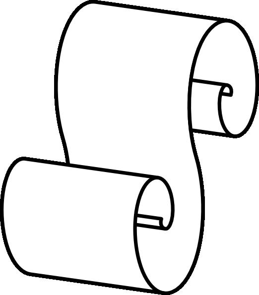 Scroll clipart draw Clker at vector online Art