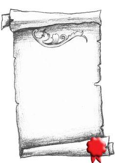 Drawn scroll printable Seivo fancy Scroll Free