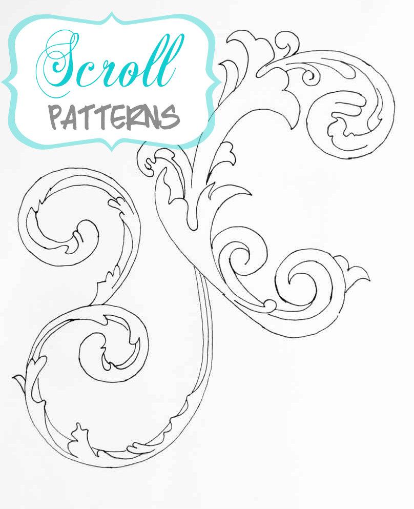 Drawn scroll printable  Free Choosing Choosing Patterns