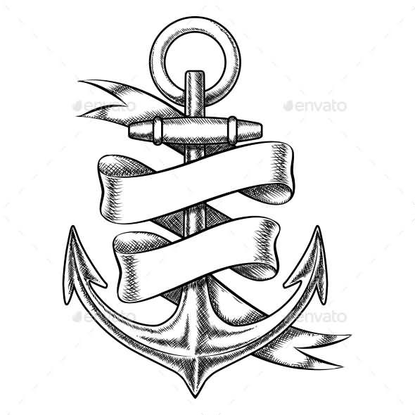 Drawn scroll ribbon Scroll  Ink Ribbon Tattoo