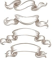 Drawn scroll ribbon // Google Embellishment  Google
