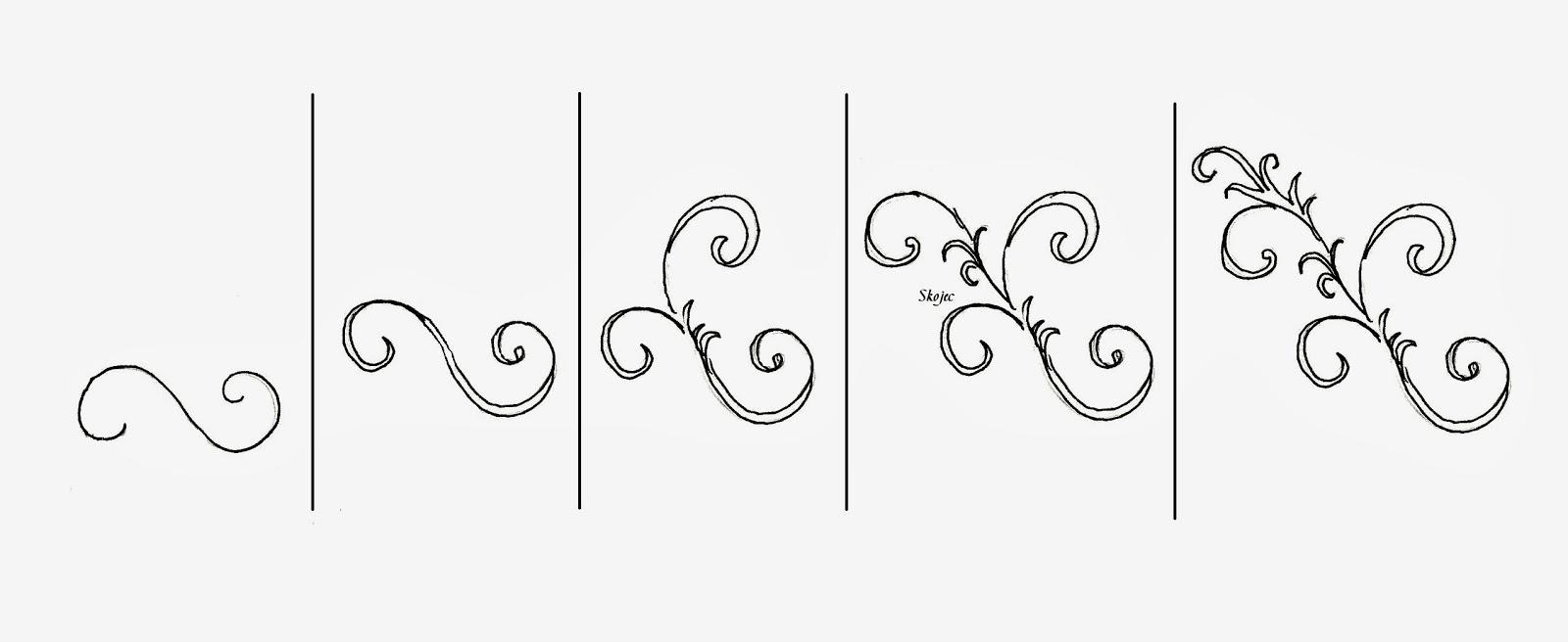 Drawn scroll swirl Scrolls Ideas upright How to