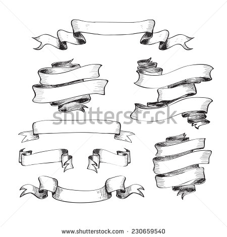 Drawn scroll vector art Lettering //  antique Search