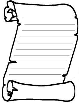 Scroll clipart blank Word 25+ Free Best –