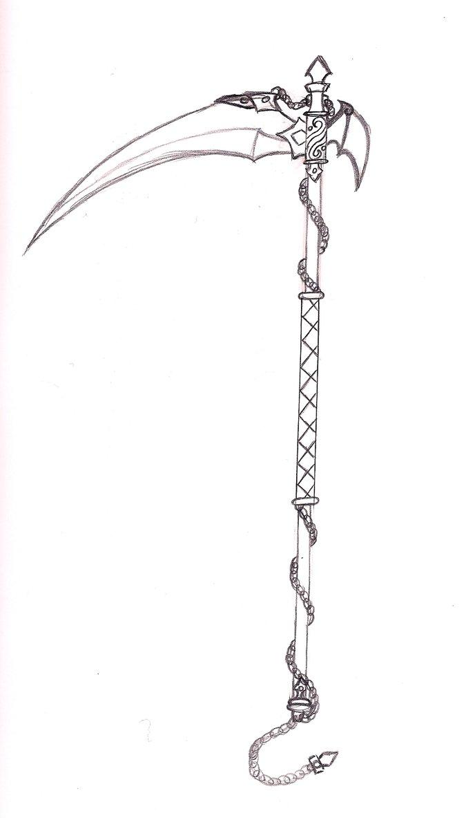 Drawn scythe Scythe Scythe Scorpius02 sketch by