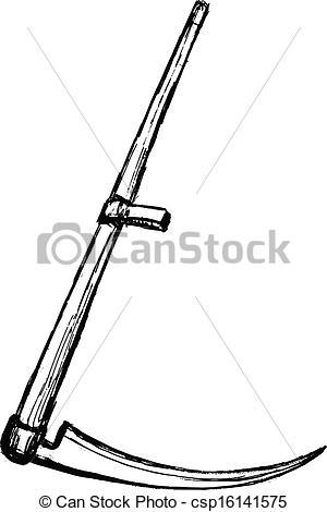 Drawn scythe Vector of Illustration  scythe