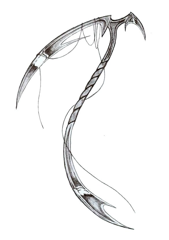 Drawn scythe Scythe by Scythe LadySira on