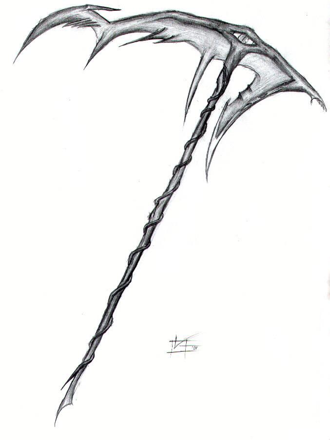 Drawn scythe Scythe by Scythe Scythe Sugar