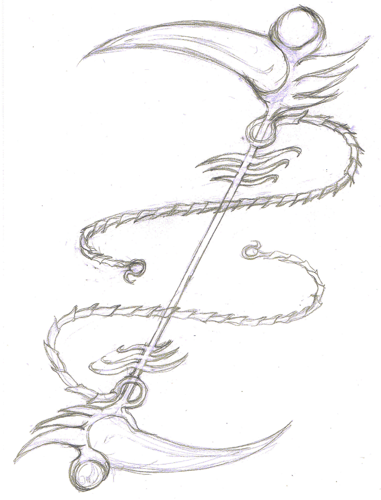Drawn scythe angel Taiyoukai by by on Scythe
