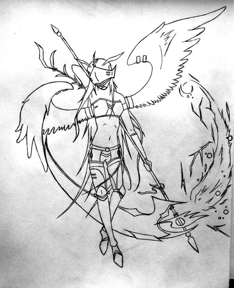 Drawn scythe angel DeviantArt AcePhi by by AcePhi