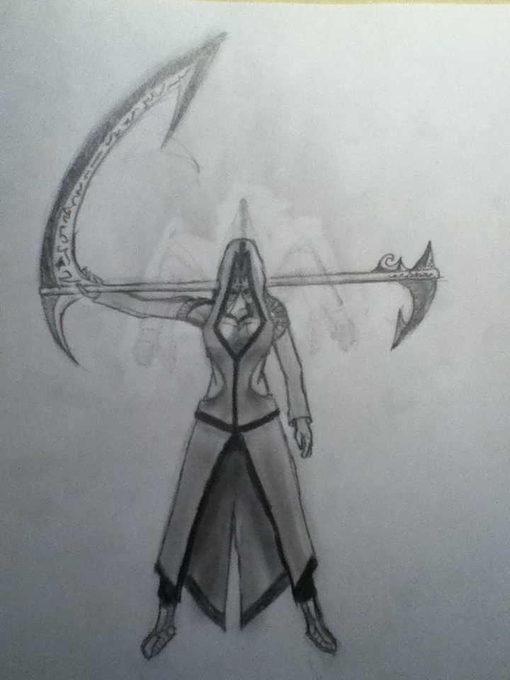 Drawn scythe angel Concept] Reaper's drawing! to Messora