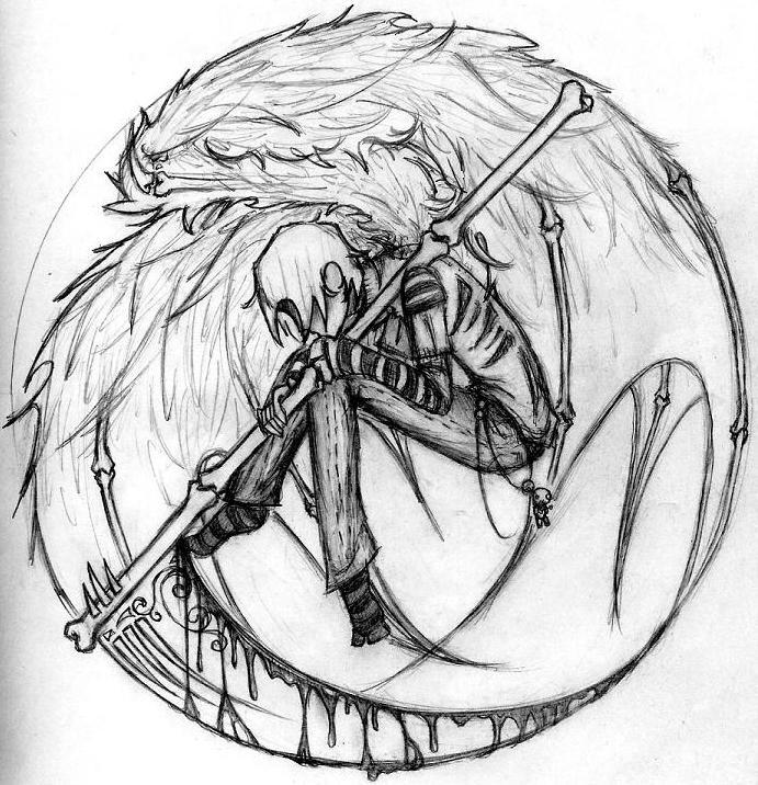 Drawn scythe angel People Search boy  Google