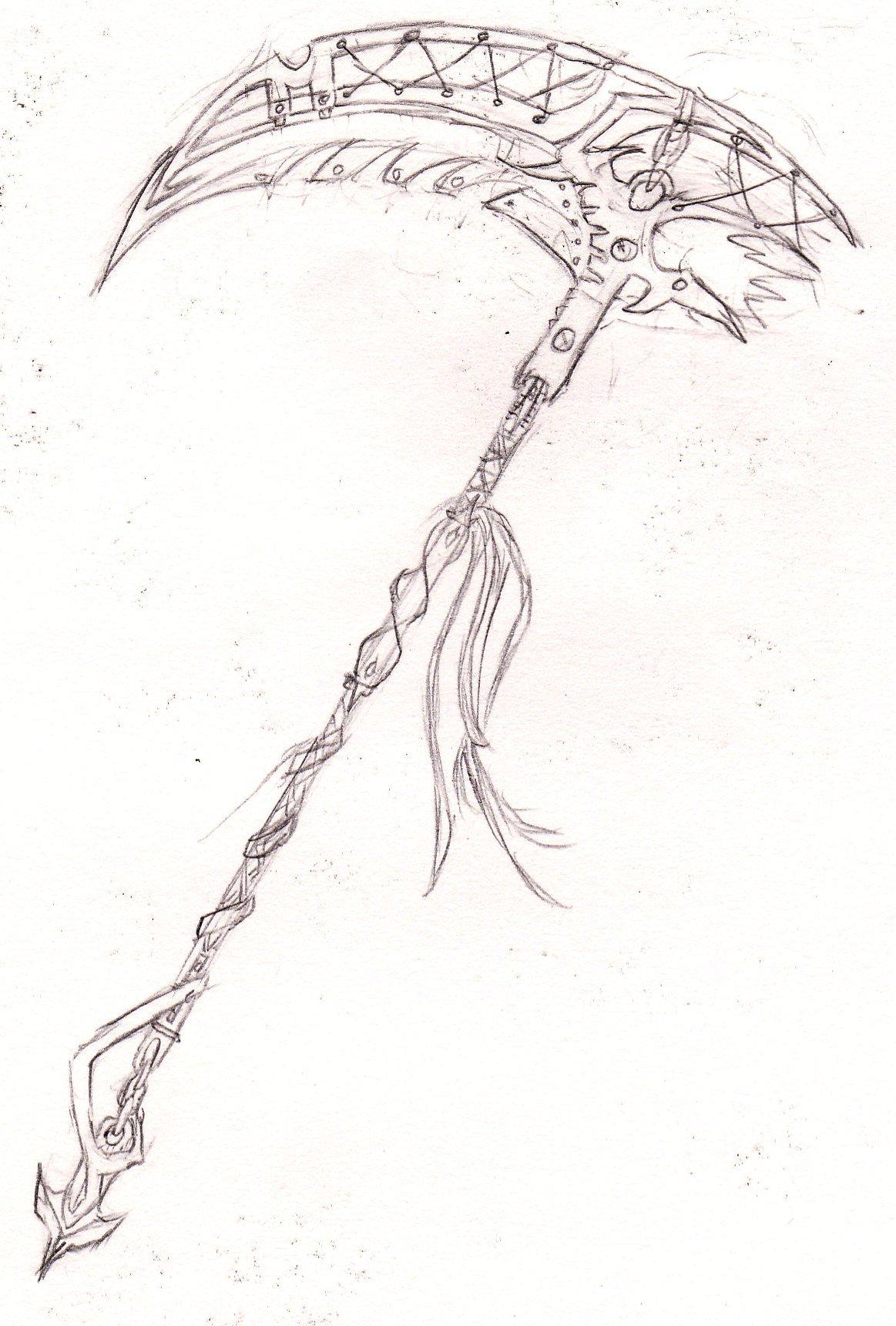Drawn scythe angel Scythe darkelflord Sugar 369 favourites