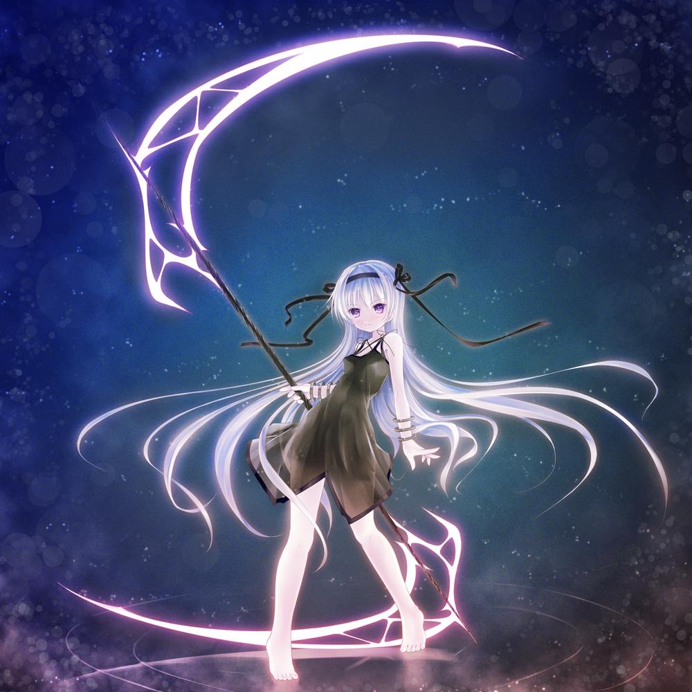 Drawn scythe anime double Scythe with  scythe Rain