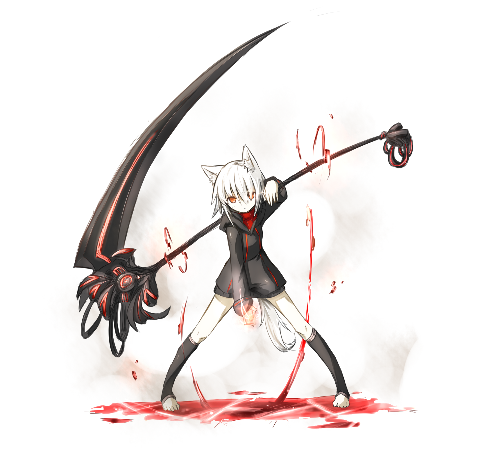 Drawn scythe anime double Traditional Games tg/ 26371115