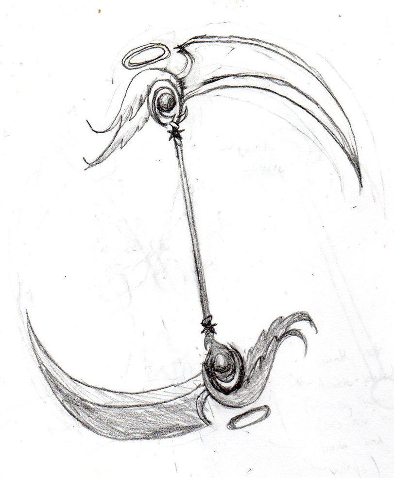 Drawn scythe badass Redesign SkyDragonStar Scythe DeviantArt Scythe
