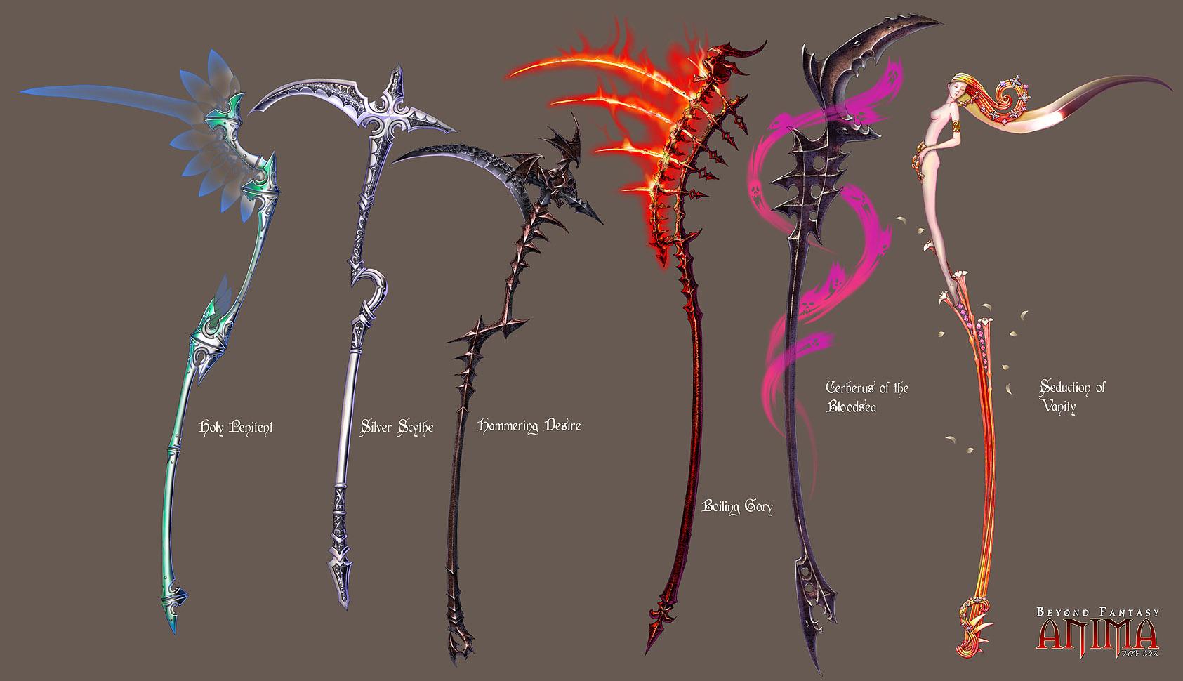 Drawn scythe badass By Wen set  by