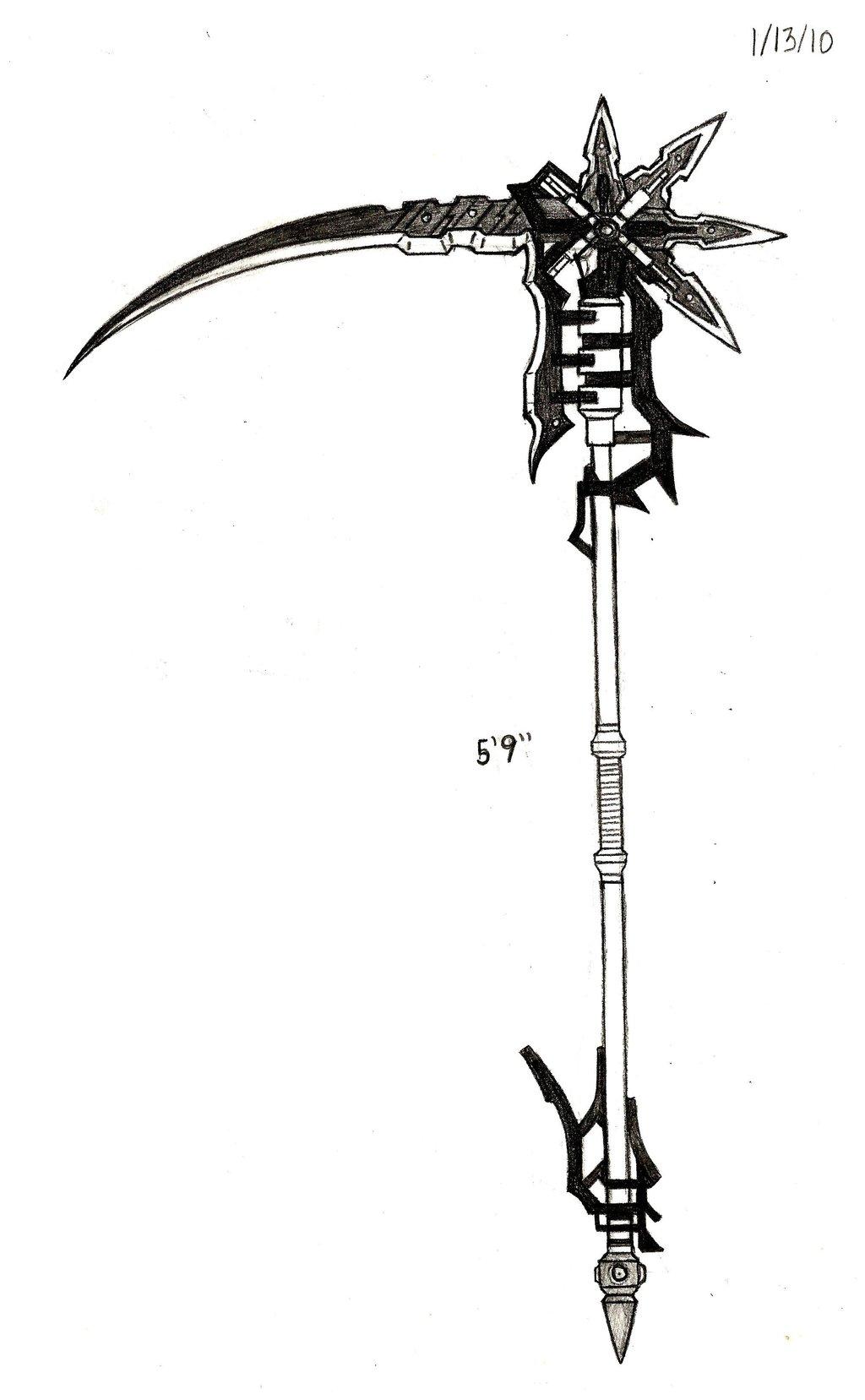 Drawn scythe badass By Design/Part Design/Part Schatten's (Early