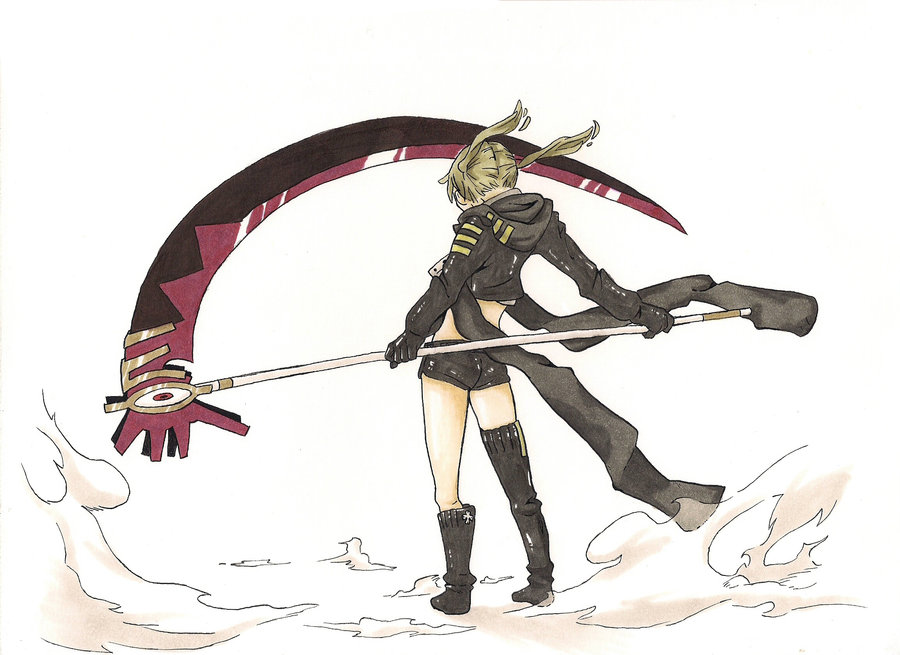 Drawn scythe badass XXGuntaXx DeviantArt Colour Maka's on