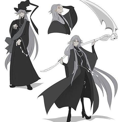 Drawn scythe black butler  Undy(undertaker) (@undertaker