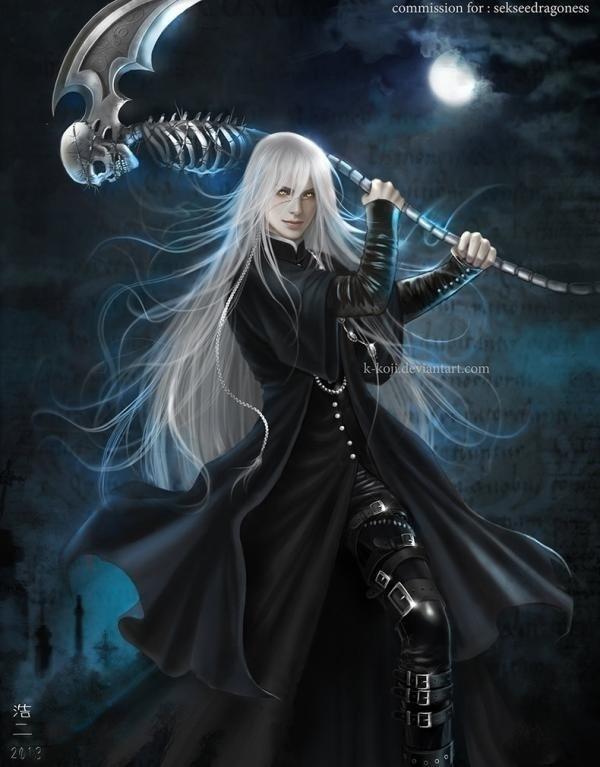 Drawn scythe black butler Skulls: scythe Pinterest Death scythe