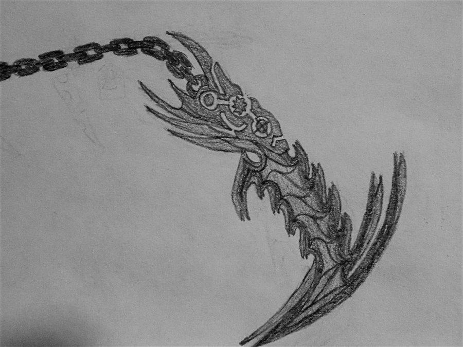 Drawn scythe bleach DeviantArt Kodoku by Bankai: FadingCrimson