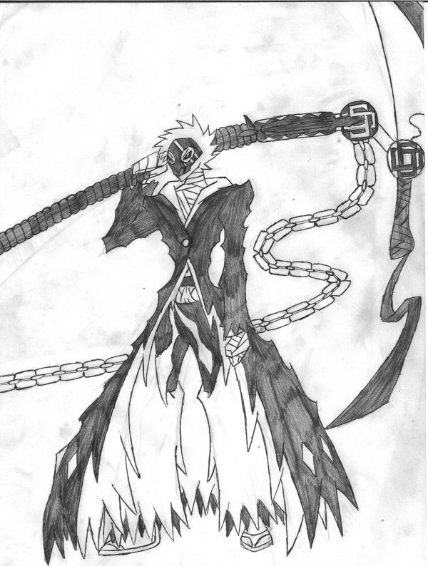 Drawn scythe bleach Redeyesblackdragon Ichigos bankai BLEACH s