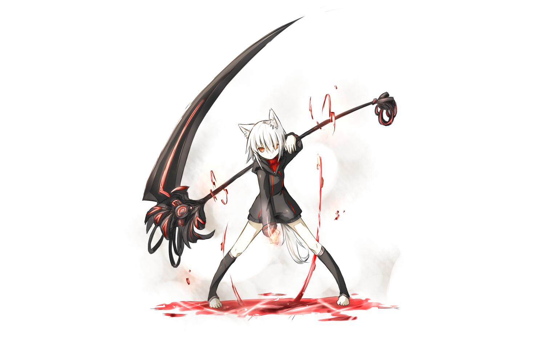 Drawn scythe blood Scythe Scythe Cute White HD