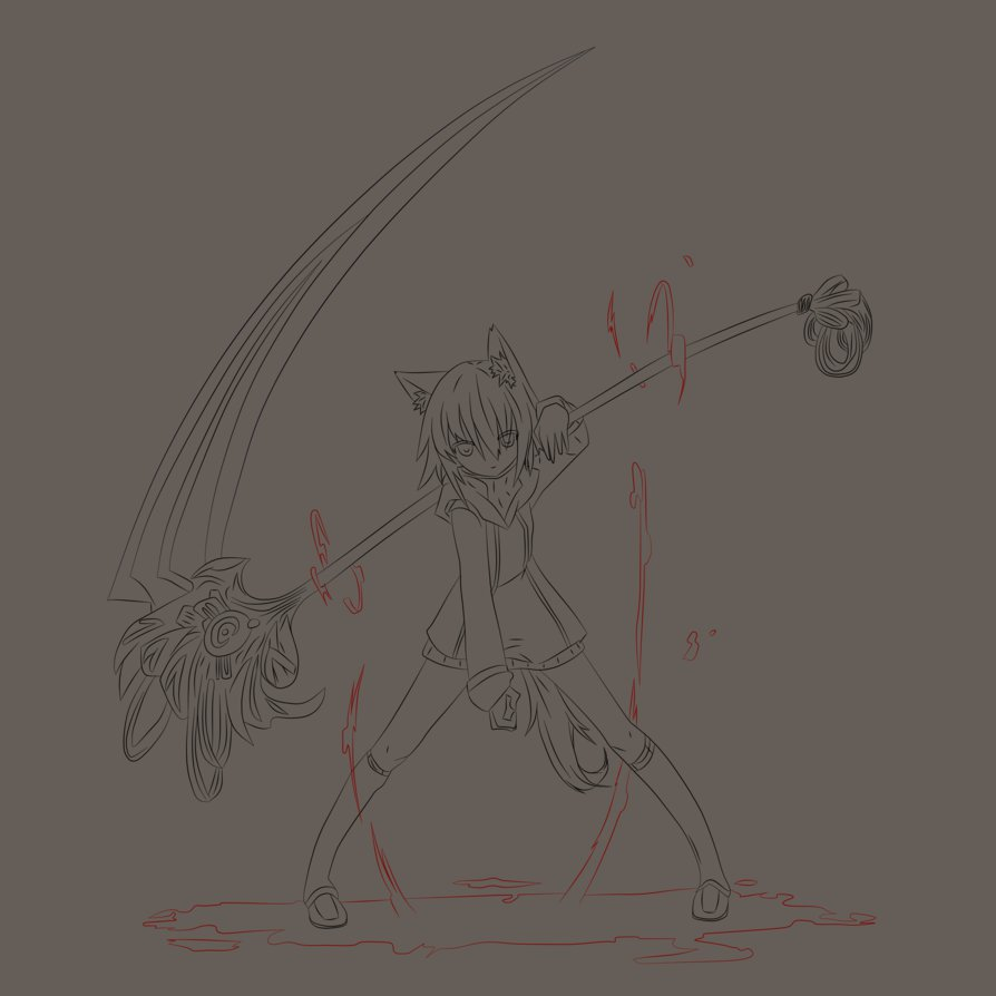 Drawn scythe blood Scythe Monekyjeans by on with