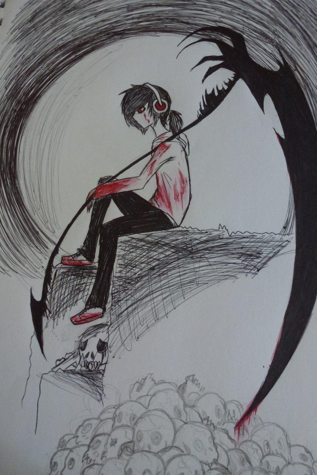 Drawn scythe blood Scythe Your by Puppet Black