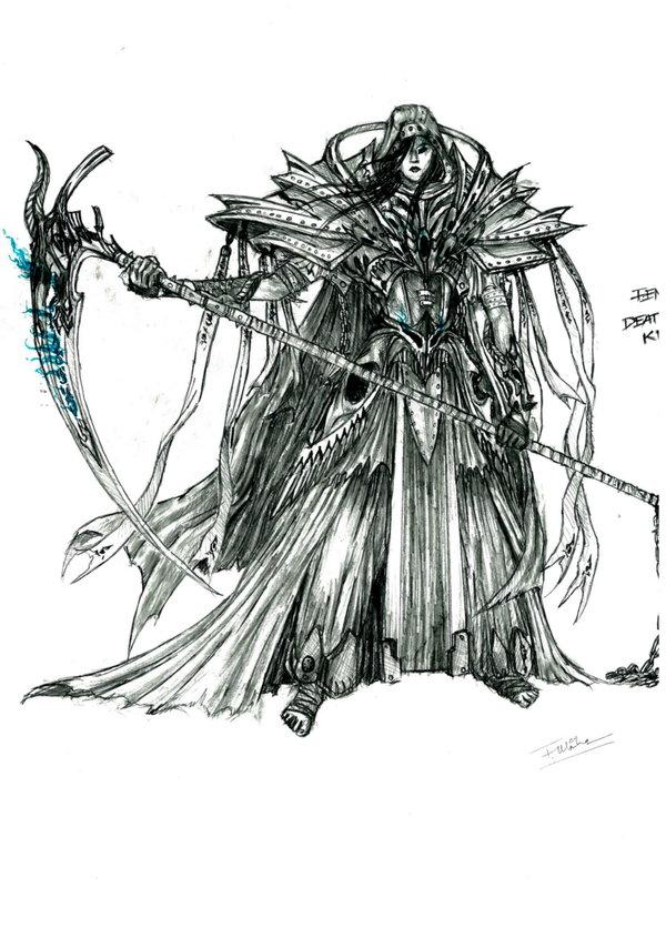 Drawn scythe blood Cigarette Knight Death by Blood