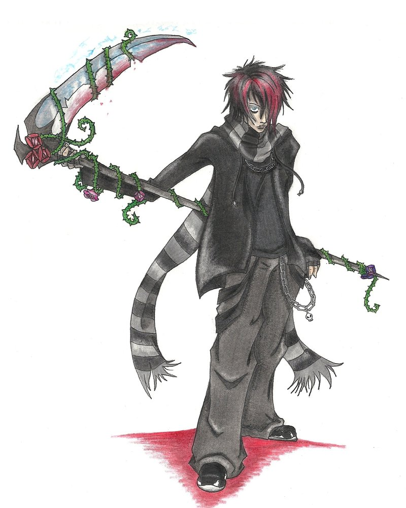 Drawn scythe bloody By NaruWolf and on Scythe