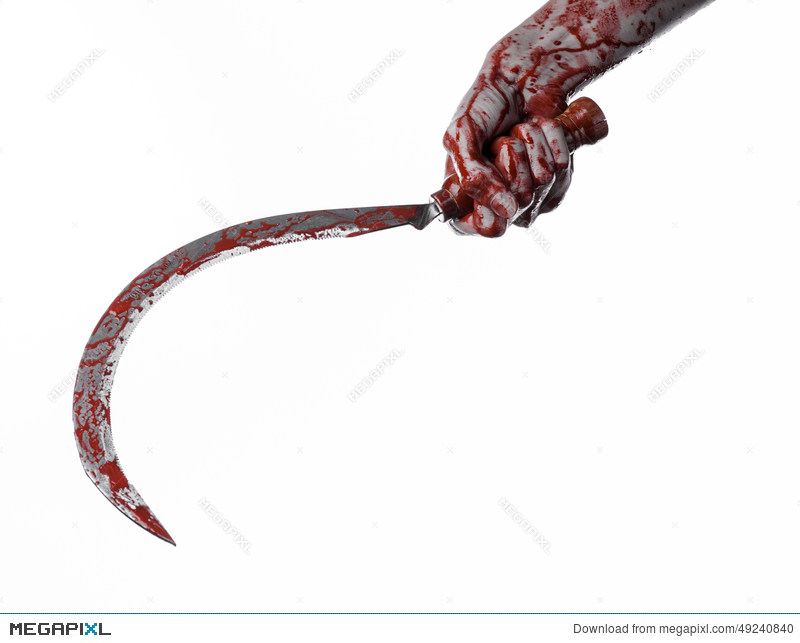 Drawn scythe bloody Bloody sickle sickle hand Bloody
