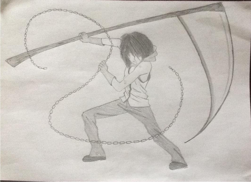 Drawn scythe cartoon Drawing Scythe © 2014 Anime