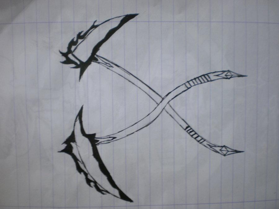 Drawn scythe crossed DeviantArt on by MainAvel Crossed