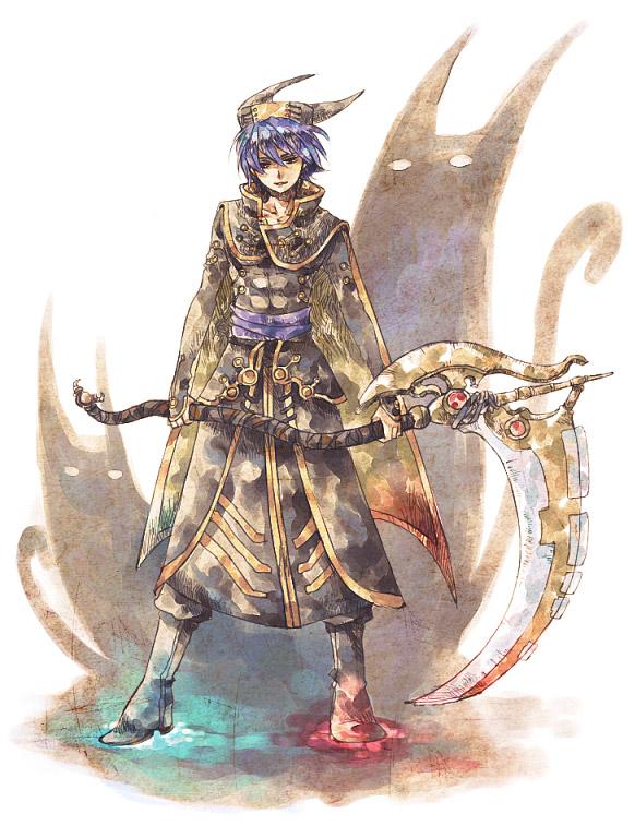 Drawn scythe crossed  Anime Tags: c Serge