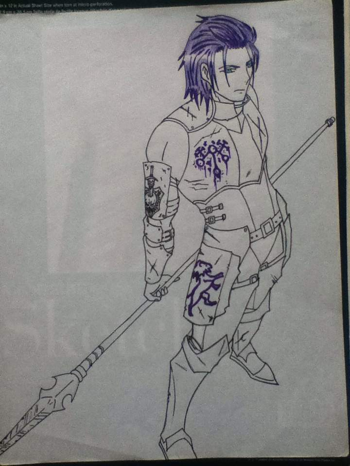 Drawn scythe daemon Young right is Knights Amino