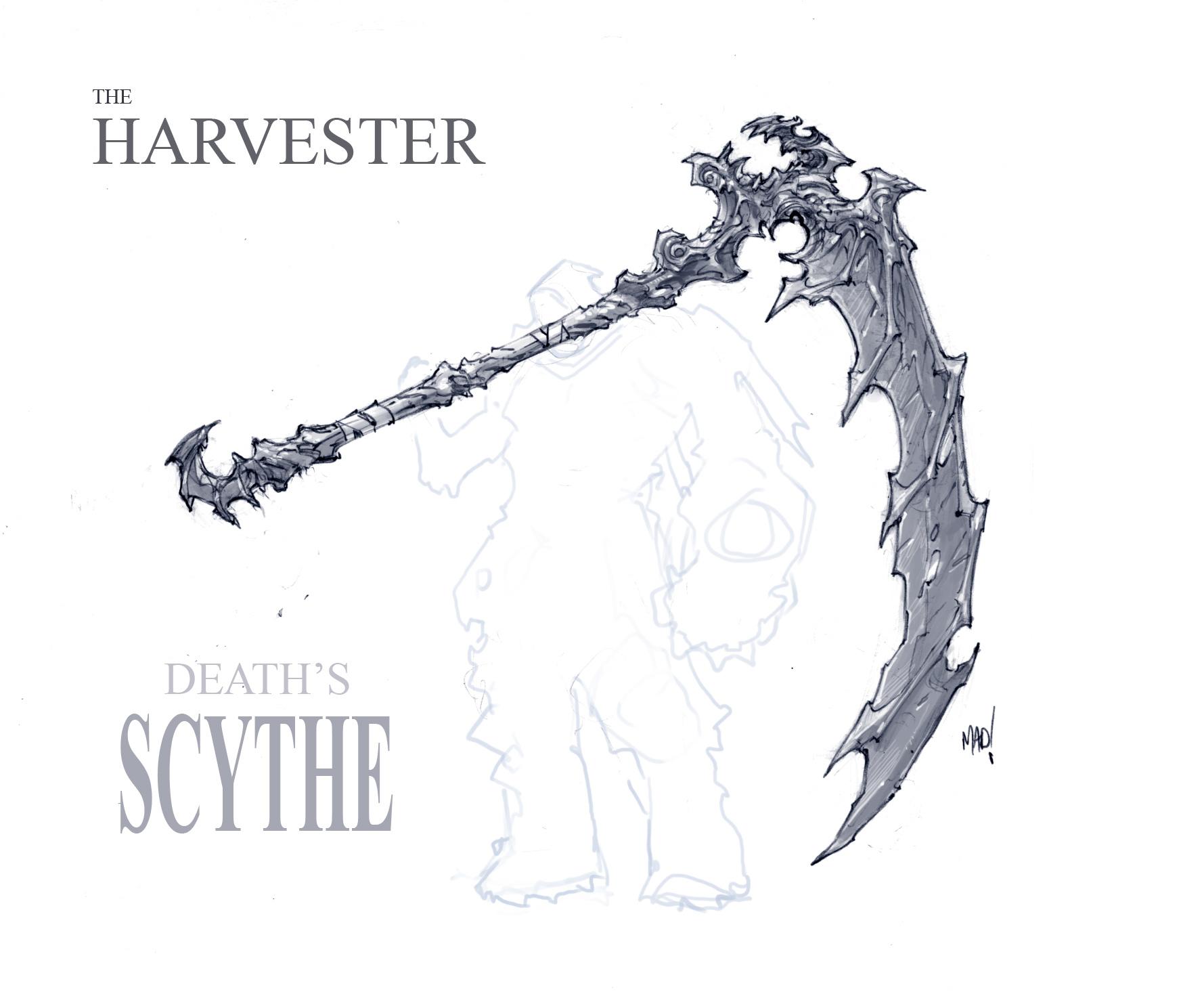 Drawn scythe dante's Scythe (Character) Bomb Death's Harvester