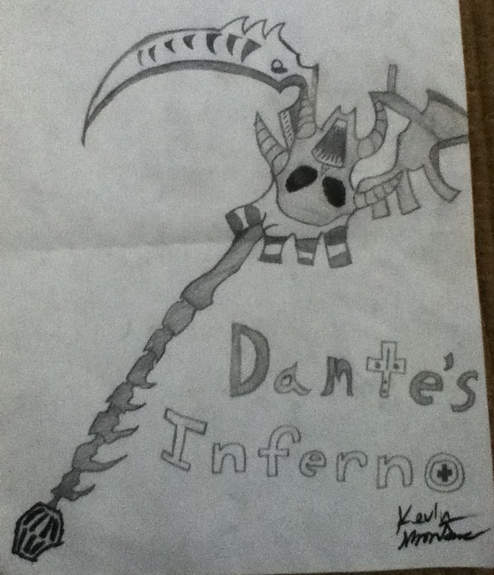 Drawn scythe dante's Of Inferno Scythe by Drawing