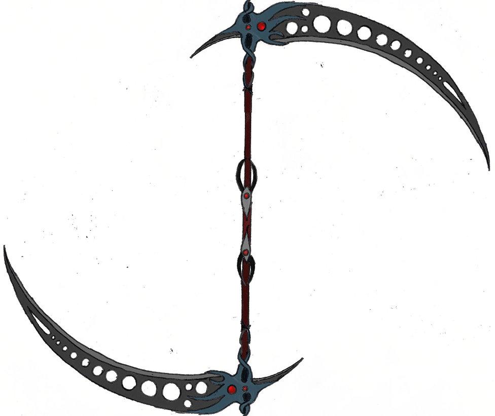 Drawn scythe darkness On Scythe Scythe Double by