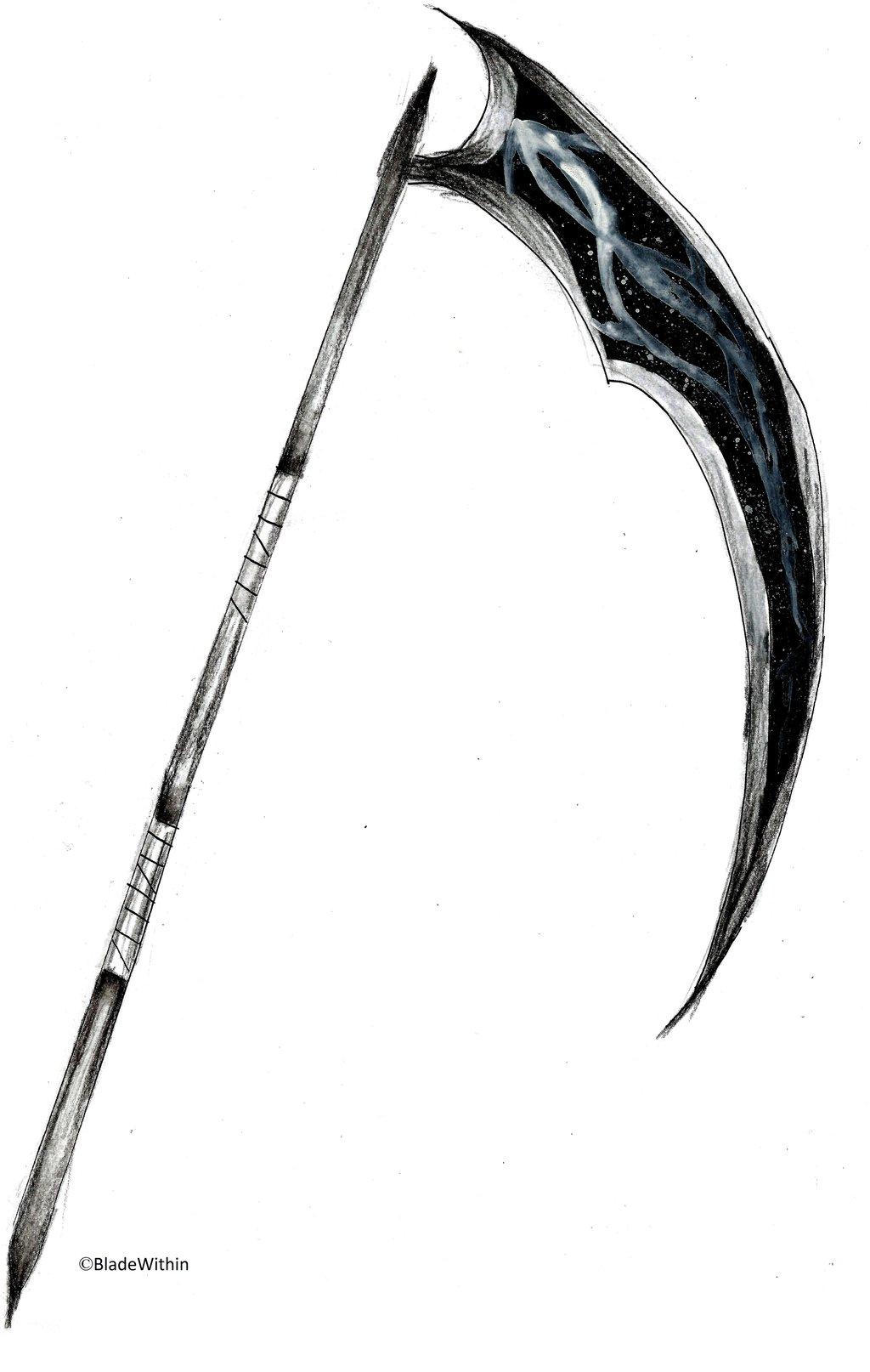 Drawn scythe darkness Weapon MonoChrome Scythe MonoChrome Scythe