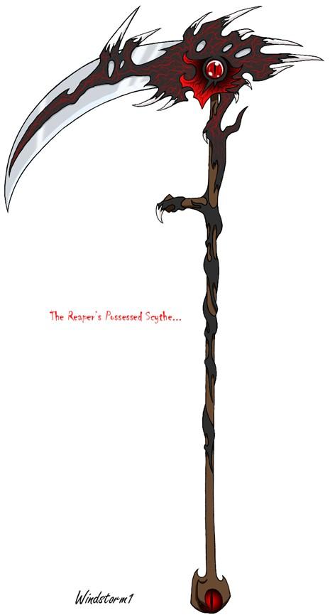 Drawn scythe darkness Weapon; DarkSoul; The Scythe