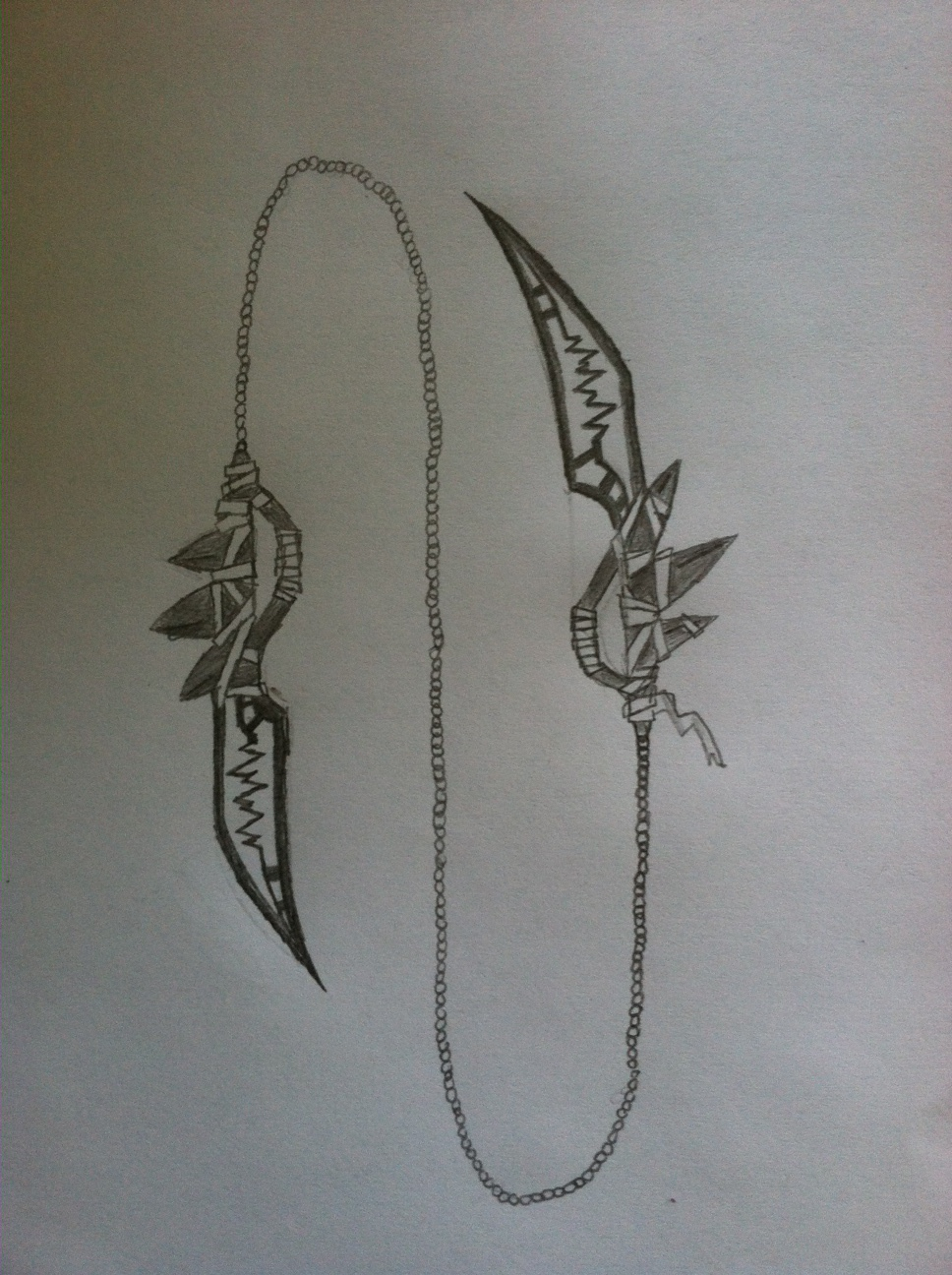 Drawn scythe darkness Dark Chain Scythe Chain Scythe