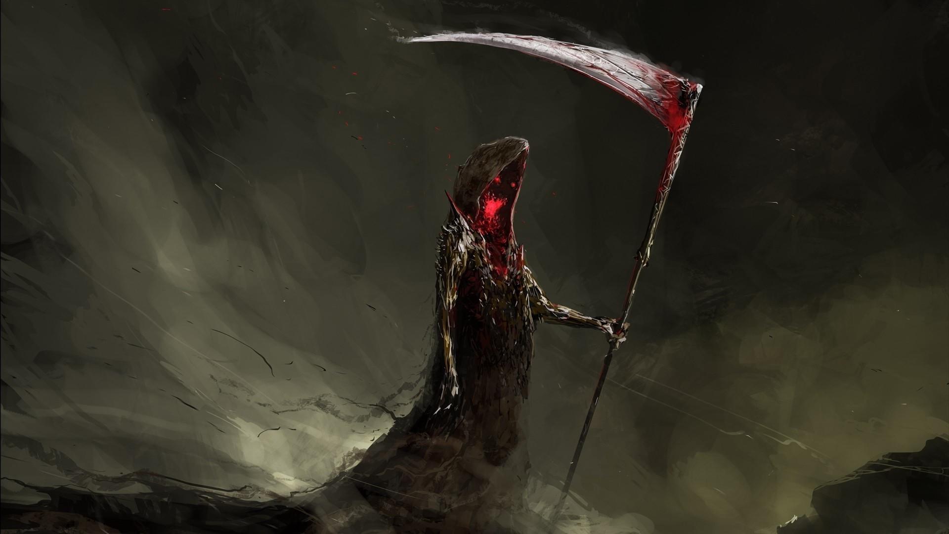 Drawn scythe darkness Dark Digital Drawing Scythe Eyes