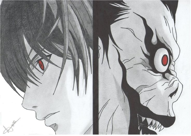 Drawn scythe death note On Pinterest Death NoTE 49