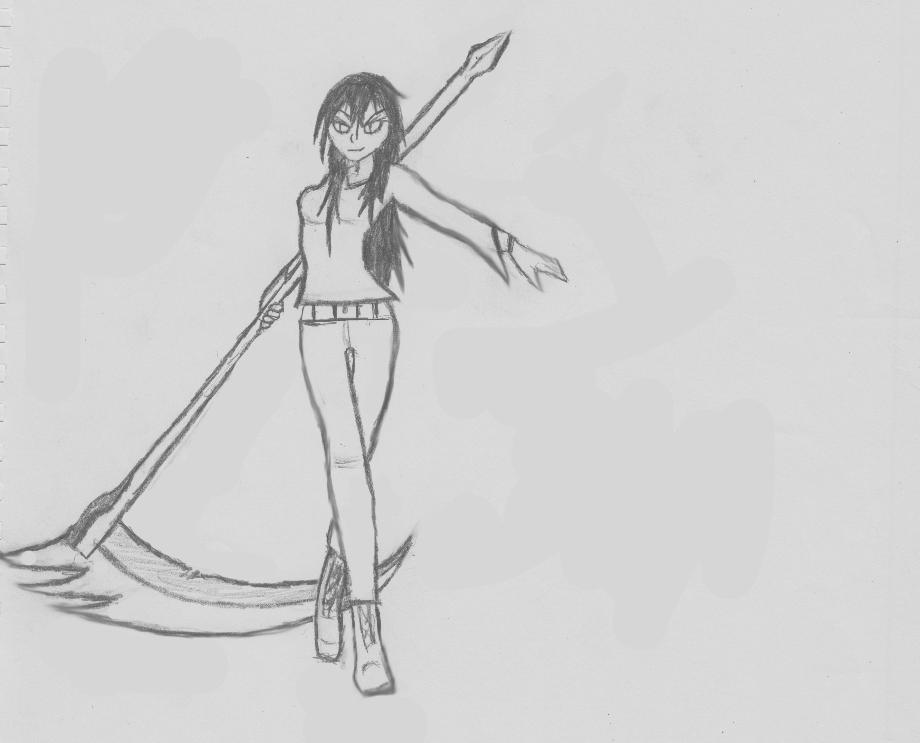 Drawn scythe demonic Scythe Kiera hunterfox119 Pose Pose