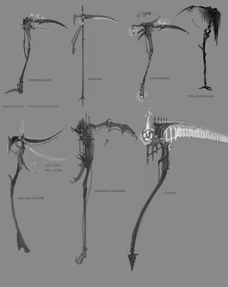 Drawn scythe demonic Scythe on more Pin 50