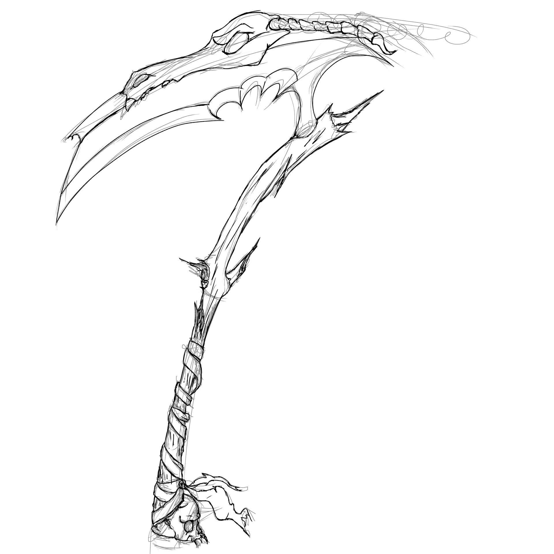 Drawn scythe demonic Scythe Demon Marius Scythe Demon